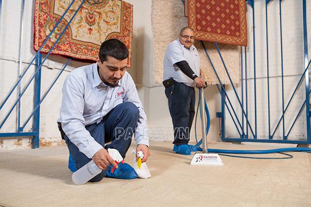 Tìm hiểu về quy trình giặt thảm