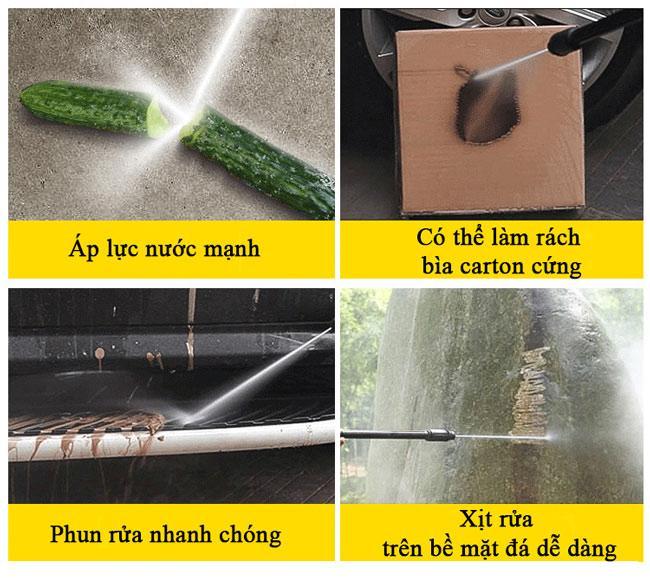 Áp lực nước của máy rửa xe rất mạnh có thể gây tổn hại lớp sơn xe nếu không dùng đúng cách