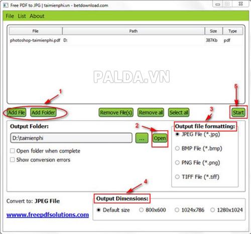 phần mềm chuyển file ảnh sang PDF