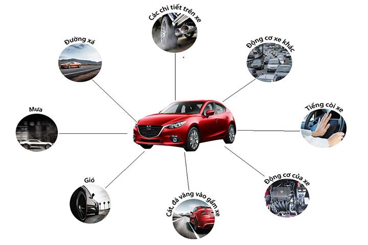 Có rất nhiều nguyên nhân gây ra tiếng ồn trong ô tô