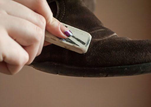 tẩy gôm vệ sinh giày da lộn