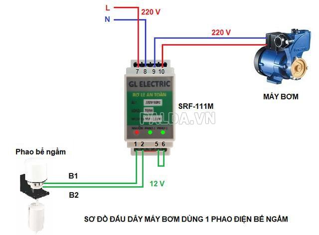 sơ đồ đấu dây máy phát điện 1 pha