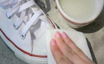 sử dụng các dung dịch để có làm trắng giày