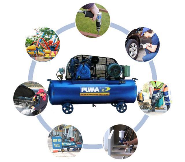 Máy nén khí có dầu được ứng dụng vào nhiều công việc trong cuộc sống