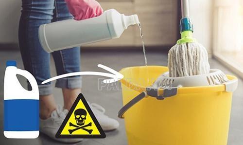 sử dụng chất tẩy rửa