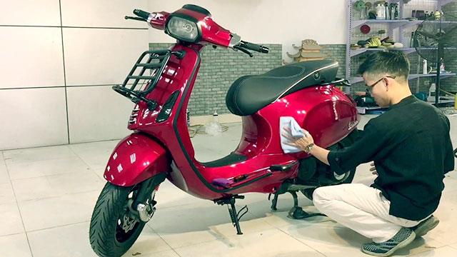kiểm tra mức độ xước trên xe máy