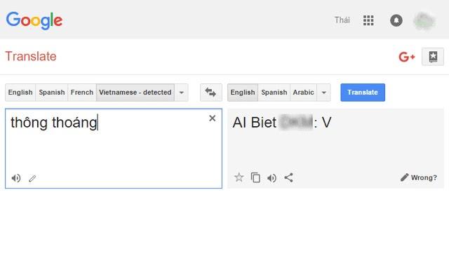 google dịch nói bậy hài hước
