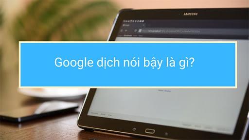Google dịch nói bậy