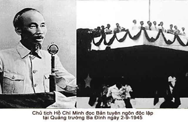 Chủ tịch Hồ Chí Minh đọc bản Tuyên ngôn độc lập