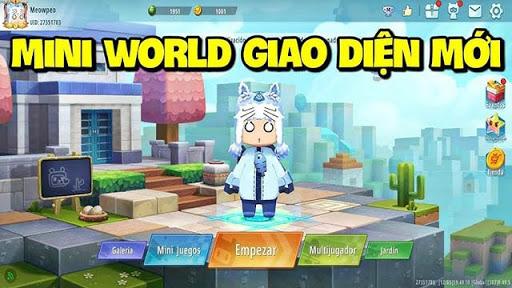 Giao diện đồ họa của Mini World