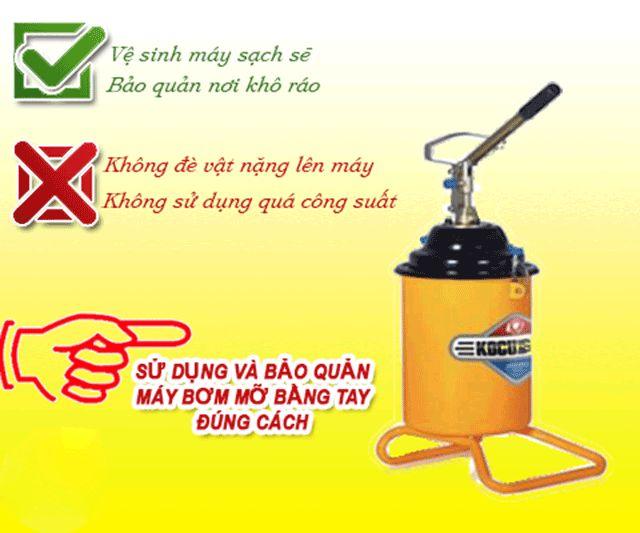 Sử dụng và bảo quản máy bơm mỡ đúng cách giúp kéo dài tuổi thọ