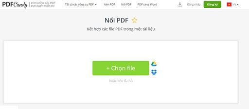 cách ghép file pdf