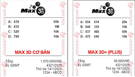 Cách tra vé số Vietlott Max 3D, 3D+